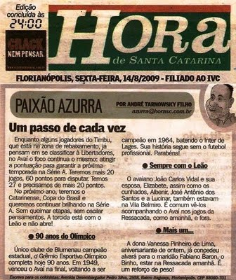2006 - Hora de Santa Catarina newspaper is released.