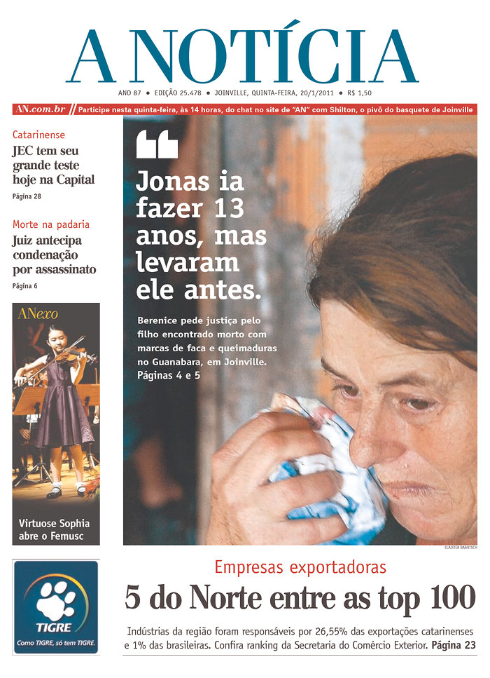 2006 - A Notícia newspaper, from Joinville, Santa Catarina, is incorporated to RBS.