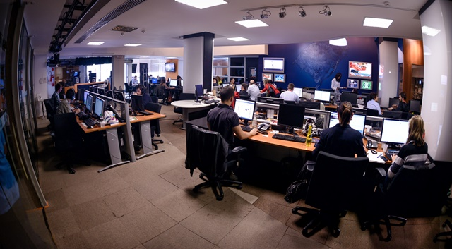 RBS TV newsroom in Rio Grande do Sul.